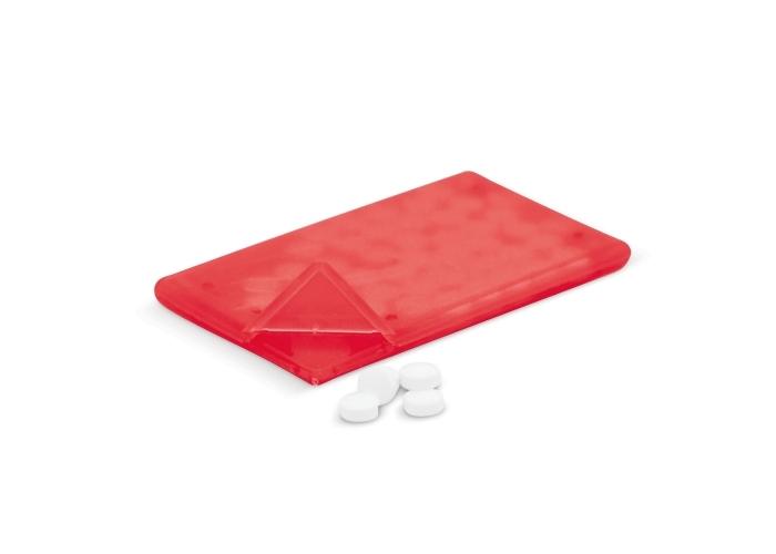 Pepermunt doosje Frosted Rood LT91793| met logo