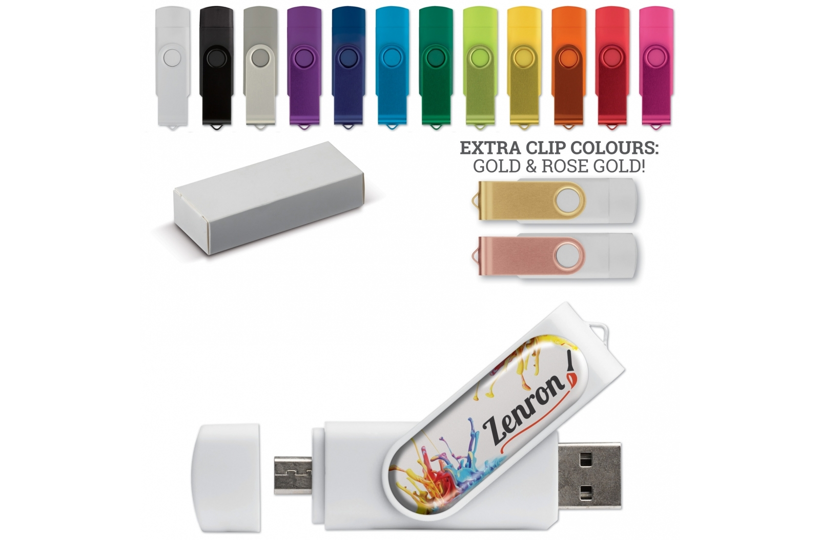 USB Stick 2.0 On-the-go 16gb Doming