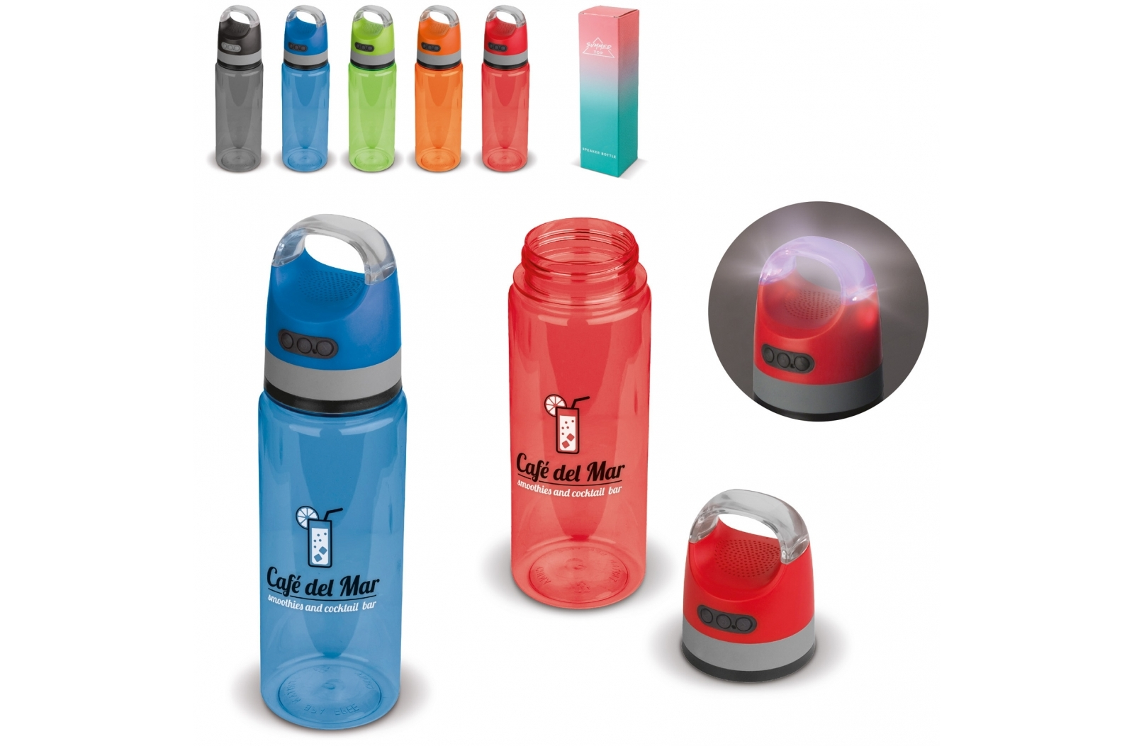 Drinkfles 2-in-1 speaker 730ml 3W