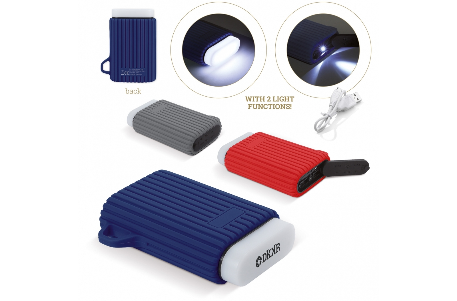 Powerbank waterafstotend 6000mAh