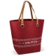 LT95137 - Shopping Bag Felt - Dark Red