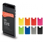 Smartphone silicone card holder