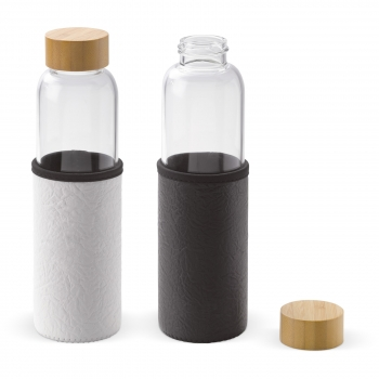 glass water bottle with sleeve 550ml toppoint toppoint